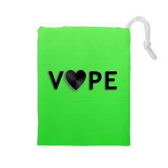 Vape Heart Drawstring Pouch (Large)