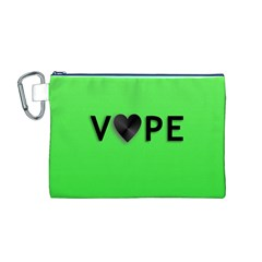 Vape Heart Canvas Cosmetic Bag (Medium)