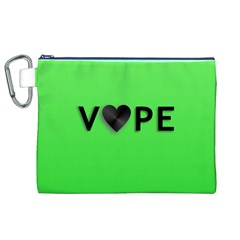Vape Heart Canvas Cosmetic Bag (XL)