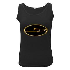 Trombone Gold Oval Women s Tank Top (black)