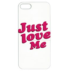 Just Love Me Text Typographic Quote Apple Iphone 5 Hardshell Case With Stand