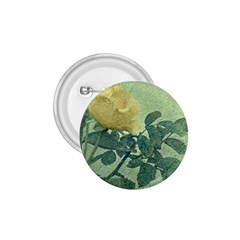 Yellow Rose Vintage Style  1 75  Button