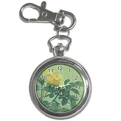 Yellow Rose Vintage Style  Key Chain Watch