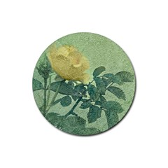 Yellow Rose Vintage Style  Drink Coasters 4 Pack (round)