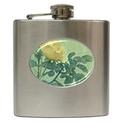 Yellow Rose Vintage Style  Hip Flask
