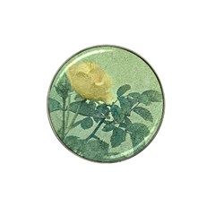 Yellow Rose Vintage Style  Golf Ball Marker 4 Pack (for Hat Clip)