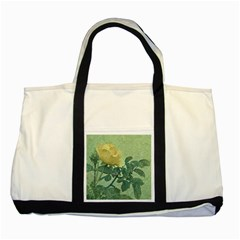 Yellow Rose Vintage Style  Two Toned Tote Bag
