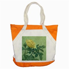 Yellow Rose Vintage Style  Accent Tote Bag