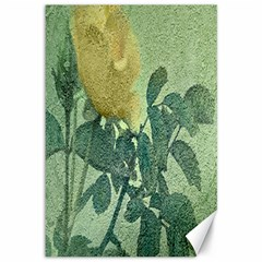 Yellow Rose Vintage Style  Canvas 12  X 18  (unframed)