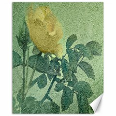 Yellow Rose Vintage Style  Canvas 16  X 20  (unframed)