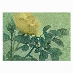 Yellow Rose Vintage Style  Glasses Cloth (Large, Two Sided)