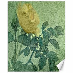 Yellow Rose Vintage Style  Canvas 11  X 14  (unframed)