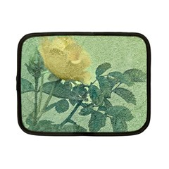 Yellow Rose Vintage Style  Netbook Sleeve (small)