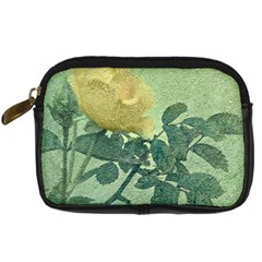 Yellow Rose Vintage Style  Digital Camera Leather Case