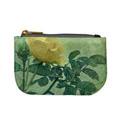 Yellow Rose Vintage Style  Coin Change Purse