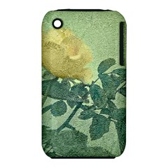 Yellow Rose Vintage Style  Apple iPhone 3G/3GS Hardshell Case (PC+Silicone)