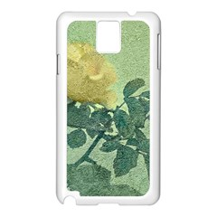 Yellow Rose Vintage Style  Samsung Galaxy Note 3 N9005 Case (White)