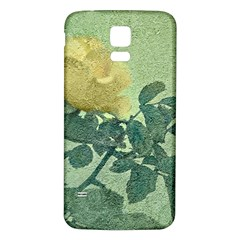 Yellow Rose Vintage Style  Samsung Galaxy S5 Back Case (white)