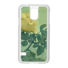 Yellow Rose Vintage Style  Samsung Galaxy S5 Case (White)