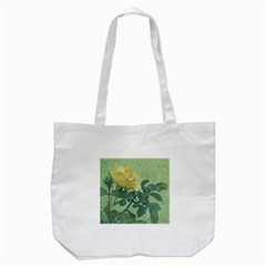 Yellow Rose Vintage Style  Tote Bag (White)
