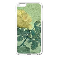 Yellow Rose Vintage Style  Apple iPhone 6 Plus Enamel White Case