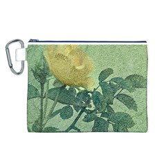 Yellow Rose Vintage Style  Canvas Cosmetic Bag (Large)