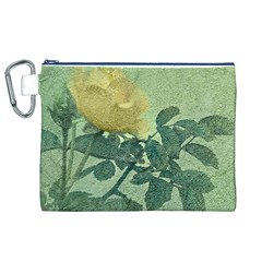 Yellow Rose Vintage Style  Canvas Cosmetic Bag (XL)