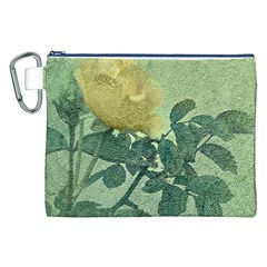 Yellow Rose Vintage Style  Canvas Cosmetic Bag (XXL)