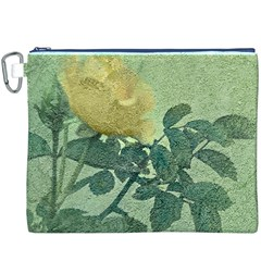 Yellow Rose Vintage Style  Canvas Cosmetic Bag (xxxl)