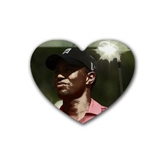 Tiger Woods Png Drink Coasters 4 Pack (heart)