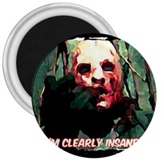 Bloody Face  3  Button Magnet