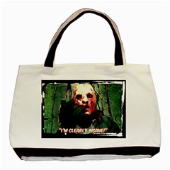 Bloody Face  Twin-sided Black Tote Bag