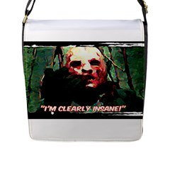 Bloody Face  Flap Closure Messenger Bag (large)