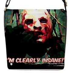 Bloody Face  Flap Closure Messenger Bag (small)