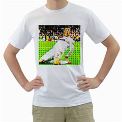 Cristiano Ronaldo  Men s T-Shirt (White)