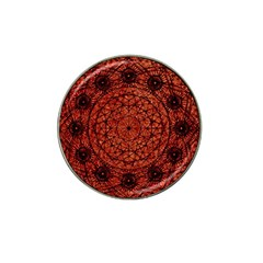 Grunge Style Geometric Mandala Golf Ball Marker (for Hat Clip)