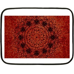 Grunge Style Geometric Mandala Mini Fleece Blanket (two Sided)