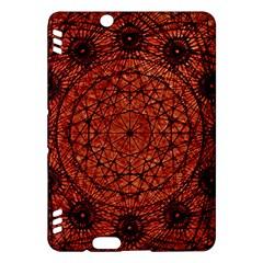 Grunge Style Geometric Mandala Kindle Fire Hdx Hardshell Case