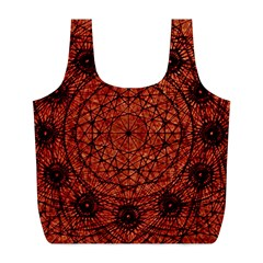 Grunge Style Geometric Mandala Reusable Bag (l)