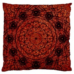 Grunge Style Geometric Mandala Large Flano Cushion Case (one Side)