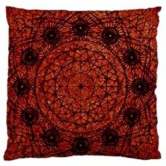 Grunge Style Geometric Mandala Large Flano Cushion Case (Two Sides)