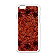Grunge Style Geometric Mandala Apple Iphone 6 White Enamel Case