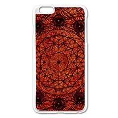 Grunge Style Geometric Mandala Apple Iphone 6 Plus Enamel White Case