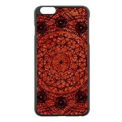 Grunge Style Geometric Mandala Apple iPhone 6 Plus Black Enamel Case