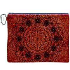 Grunge Style Geometric Mandala Canvas Cosmetic Bag (xxxl)