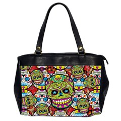 Sugar Skulls Oversize Office Handbag (two Sides)