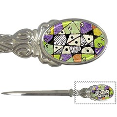 Multicolored Tribal Print Abstract Art Letter Opener