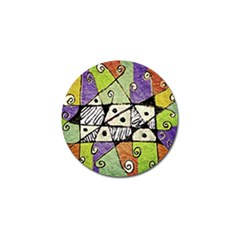 Multicolored Tribal Print Abstract Art Golf Ball Marker 10 Pack