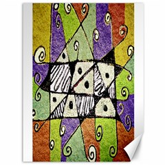 Multicolored Tribal Print Abstract Art Canvas 36  X 48  (unframed)