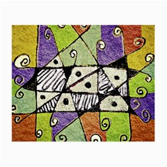 Multicolored Tribal Print Abstract Art Glasses Cloth (small, Two Sided)